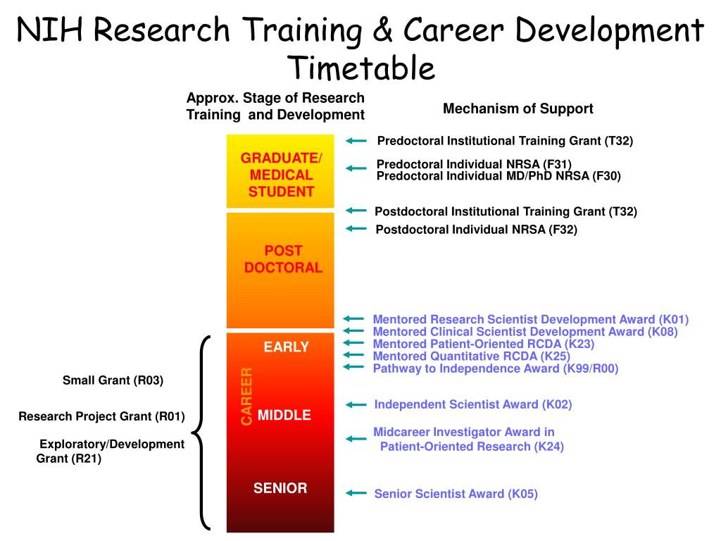 NIH Research Training & Career Development Timetable