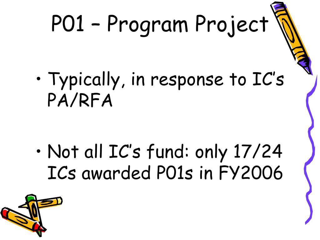 P01 – Program Project
