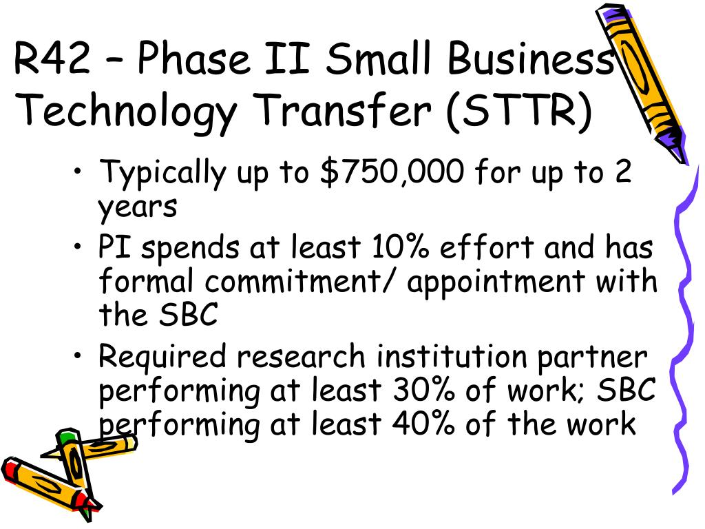 R42 – Phase II Small Business Technology Transfer (STTR)