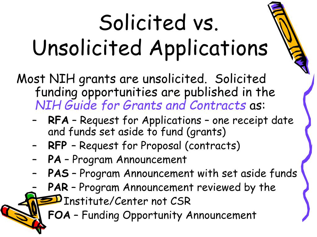Solicited vs.