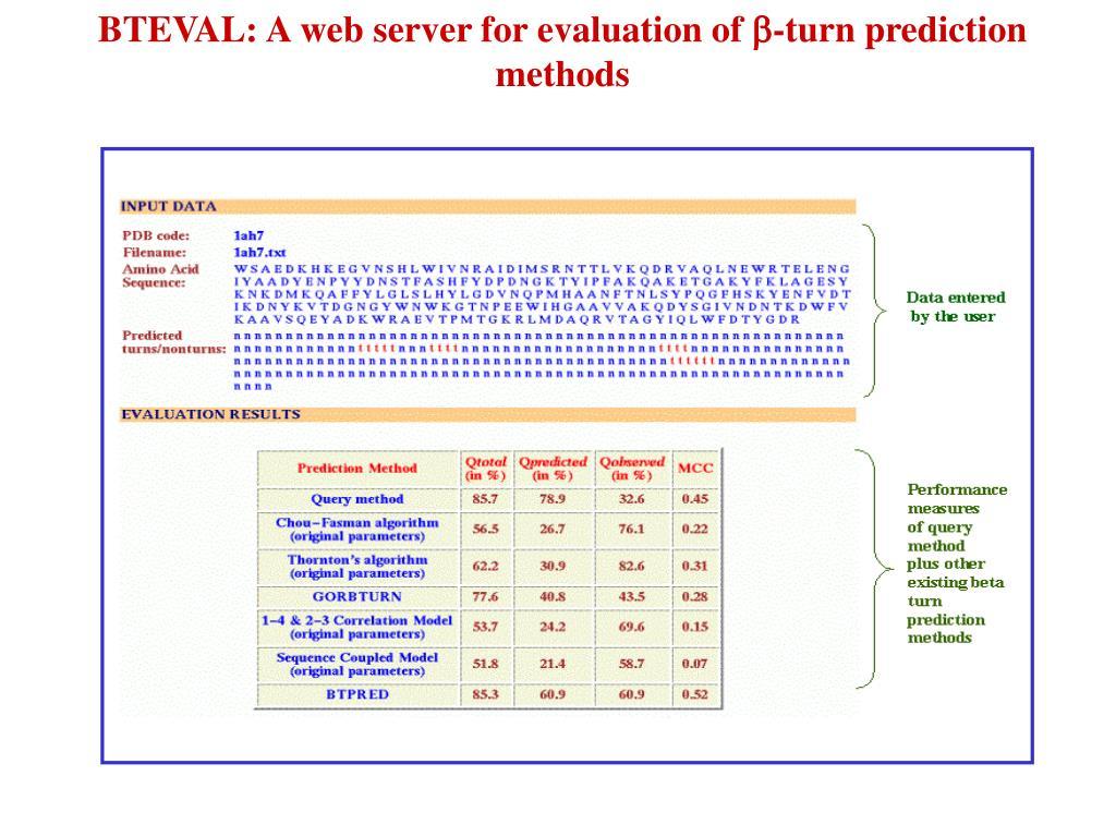 BTEVAL: A web server for evaluation of