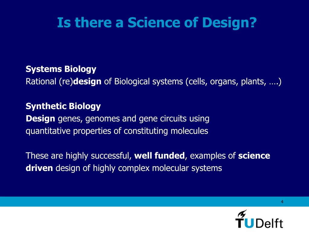 Is there a Science of Design?