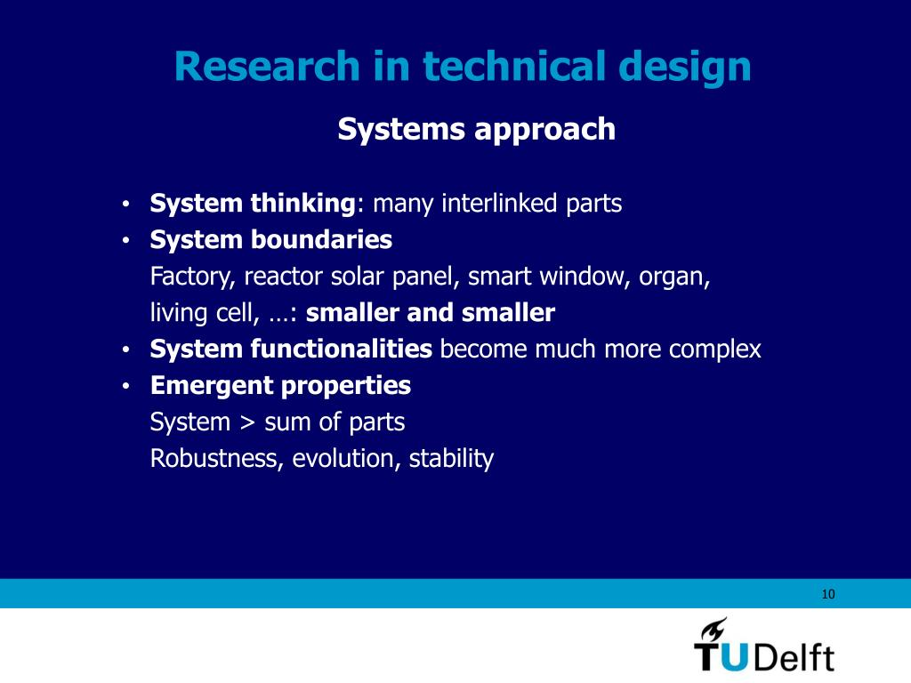 Research in technical design