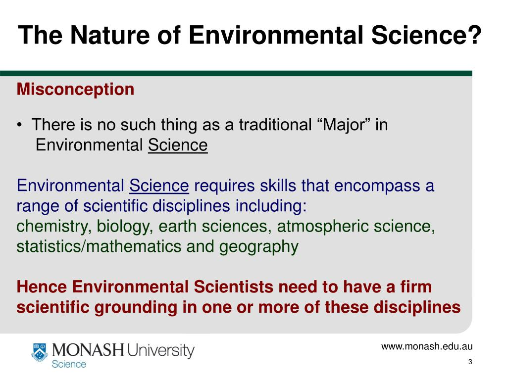 The Nature of Environmental Science?
