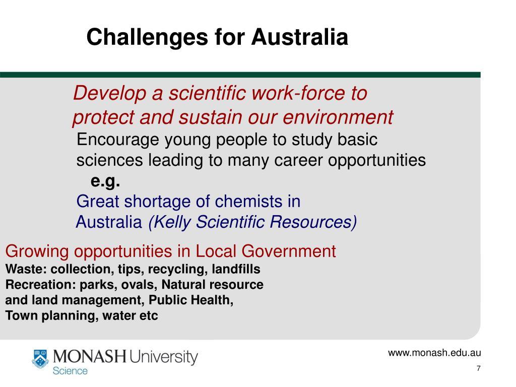 Challenges for Australia