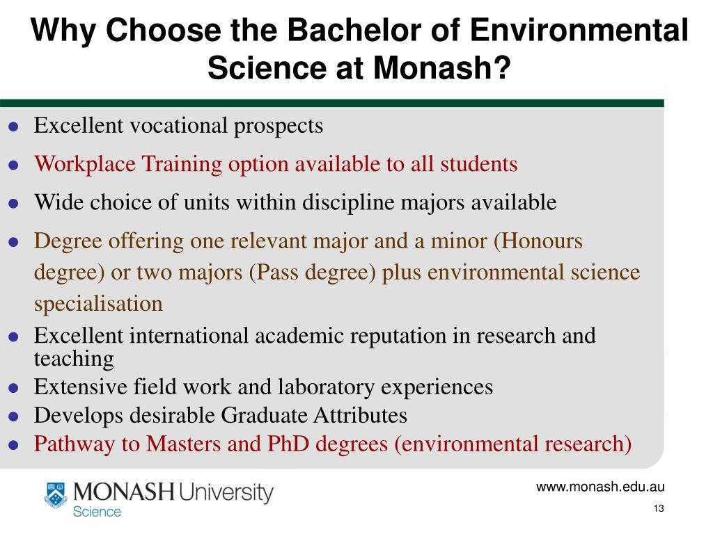 Why Choose the Bachelor of Environmental Science at Monash?