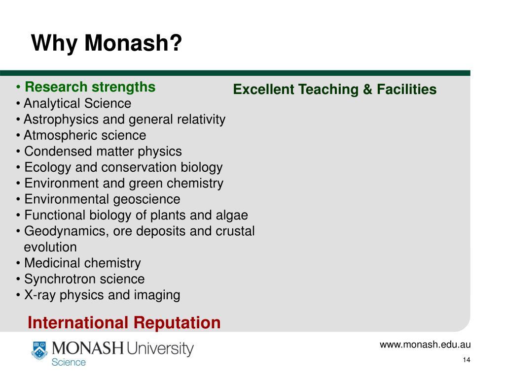 Why Monash?