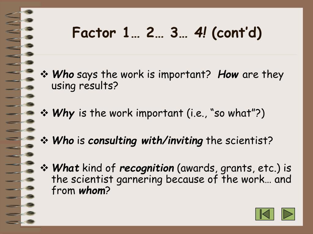 Factor 1… 2… 3…