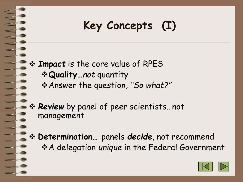 Key Concepts  (I)