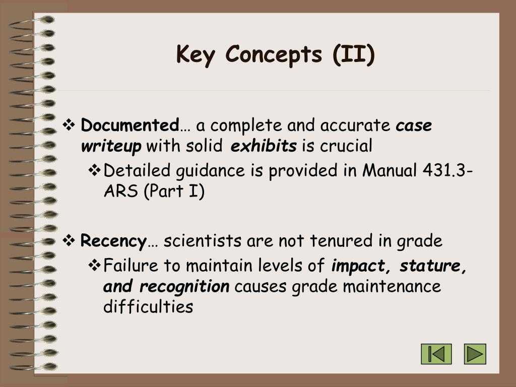 Key Concepts (II)