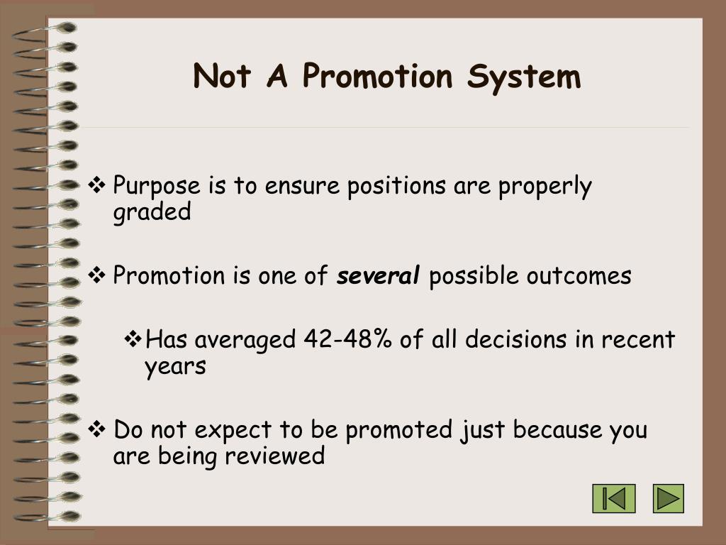 Not A Promotion System