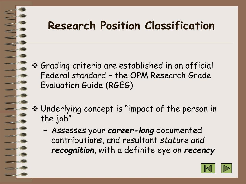 Research Position Classification