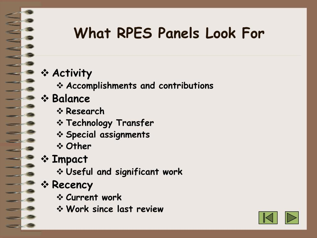 What RPES Panels Look For