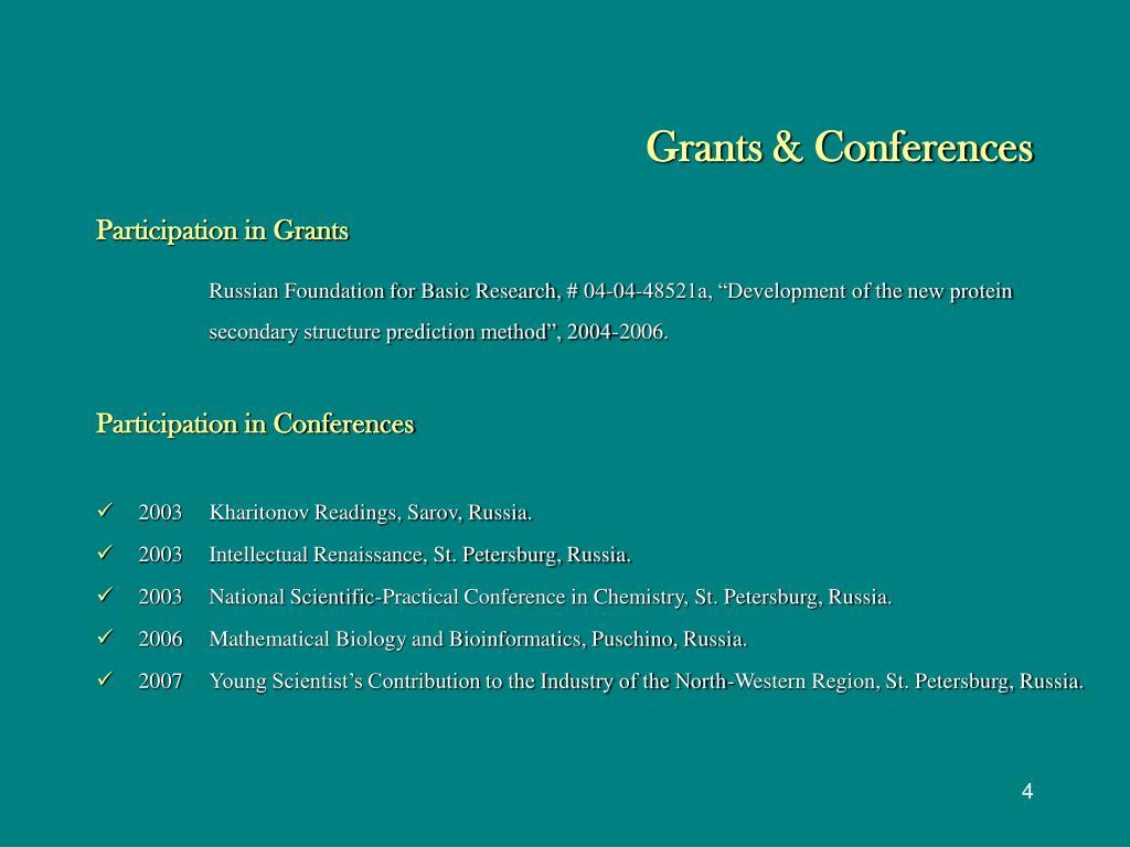 Grants & Conferences