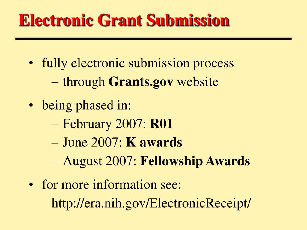 Electronic Grant Submission