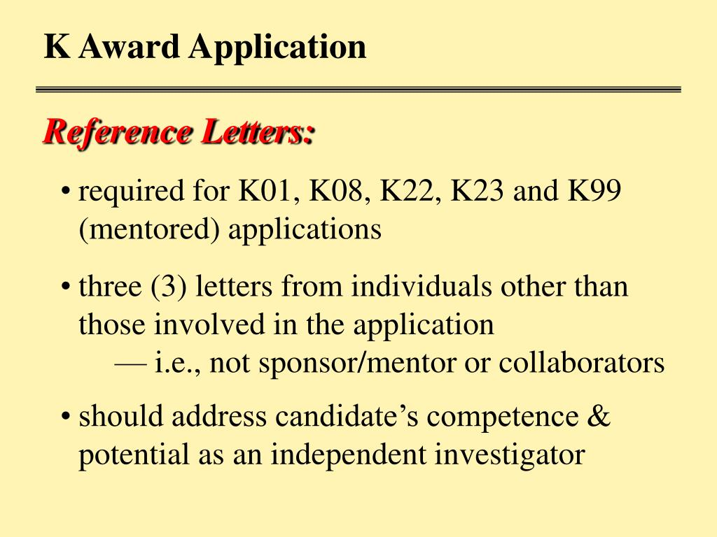 K Award Application