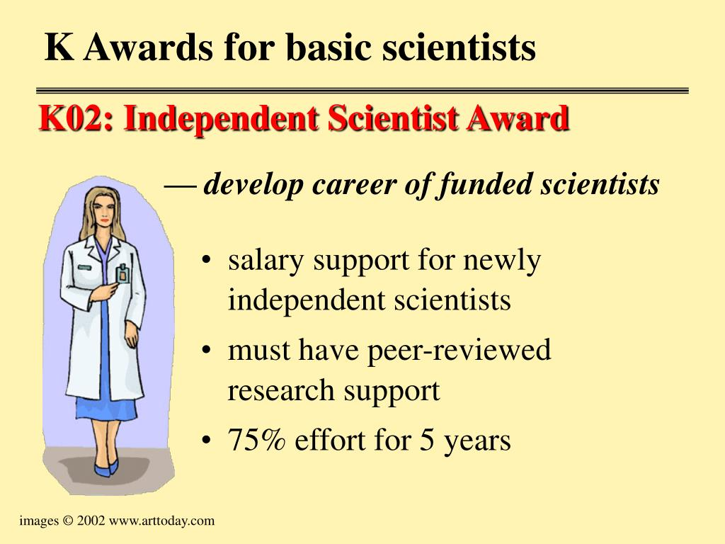 salary support for newly independent scientists