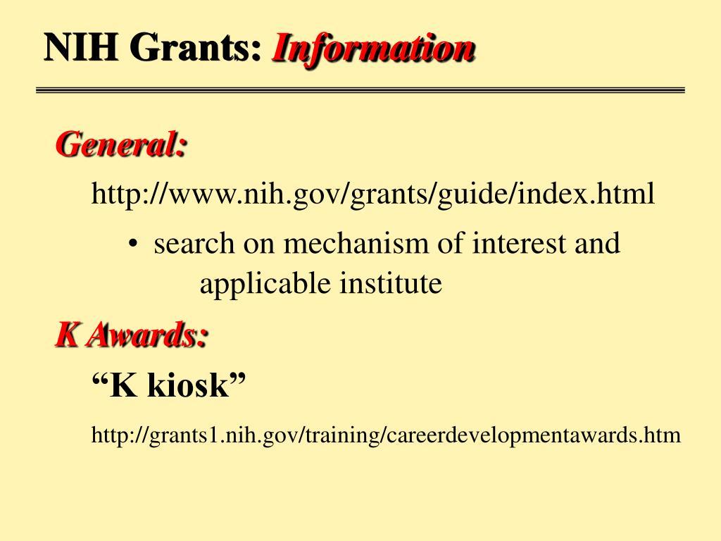 NIH Grants: