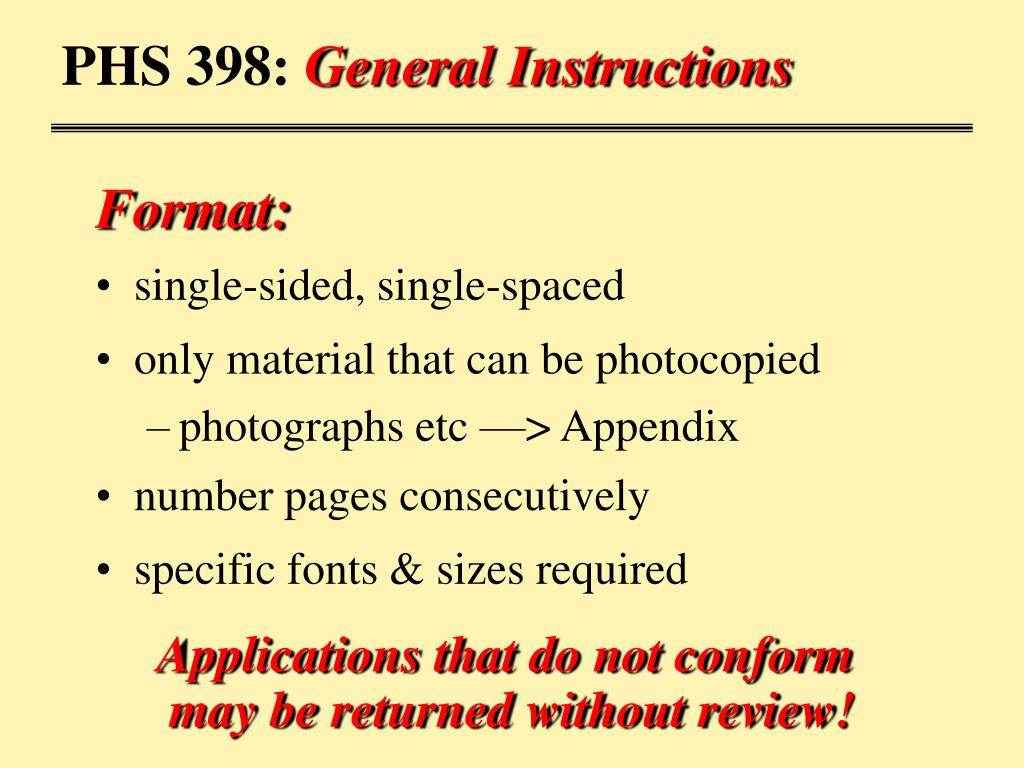 PHS 398: