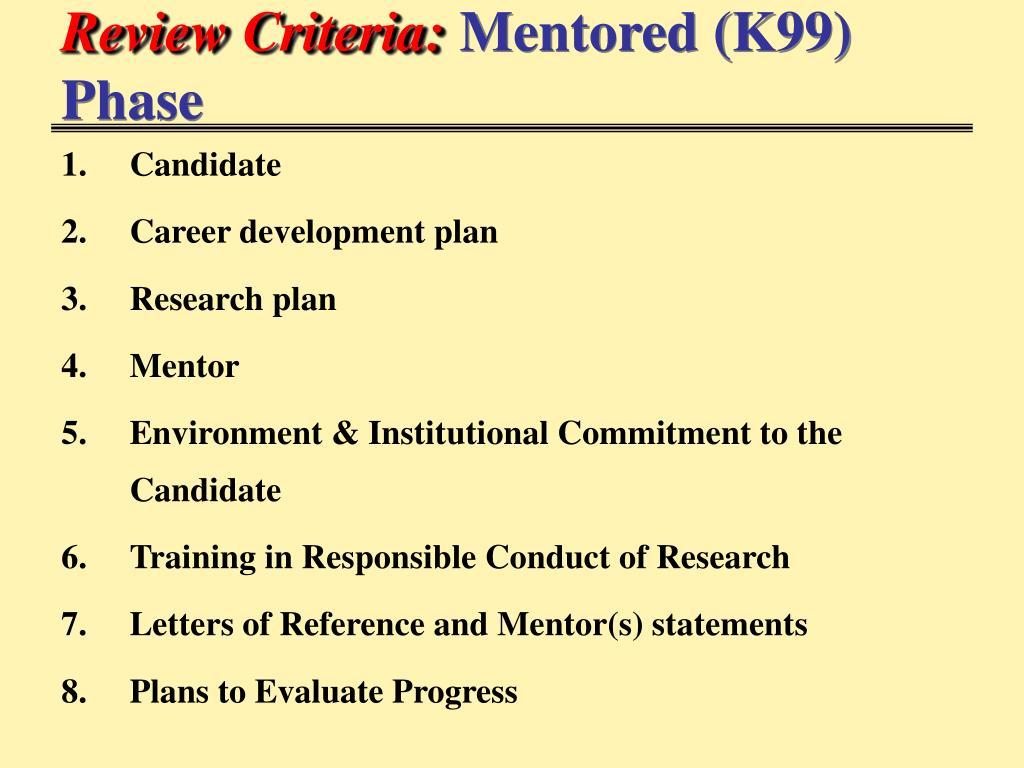 Review Criteria: