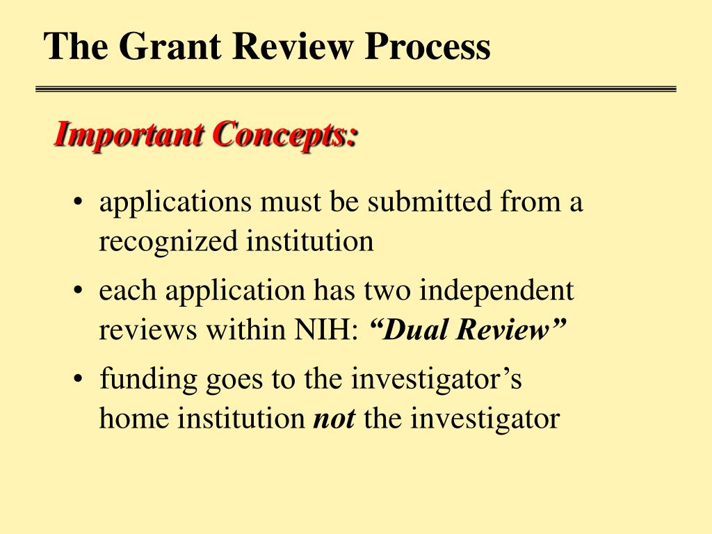 The Grant Review Process