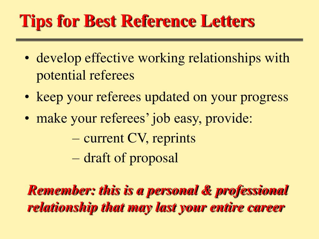 Tips for Best Reference Letters