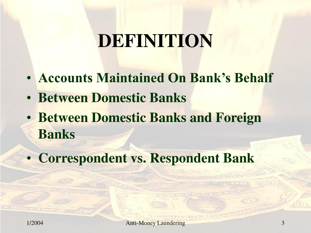 Ppt High Risk Foreign Correspondent Banking Powerpoint