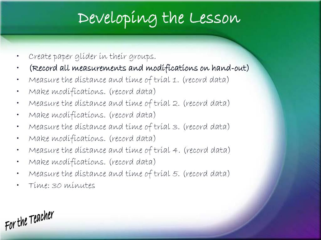 Developing the Lesson