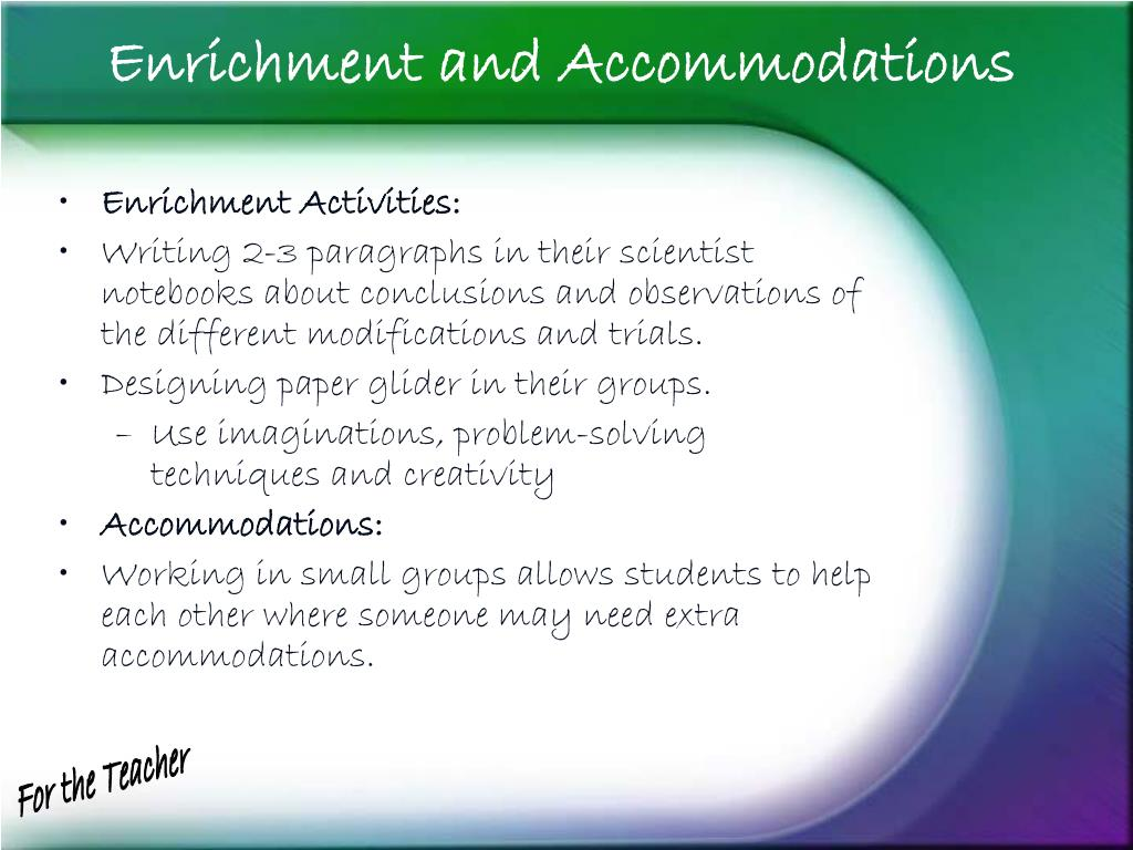 Enrichment and Accommodations