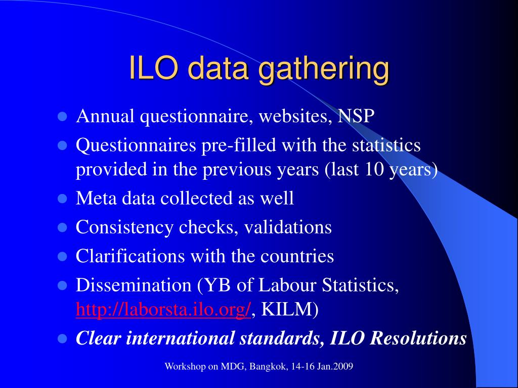 ILO data gathering