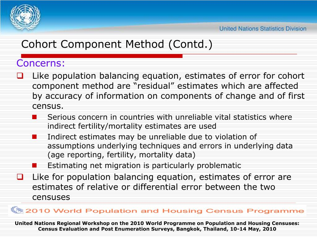 Cohort Component Method (Contd.)