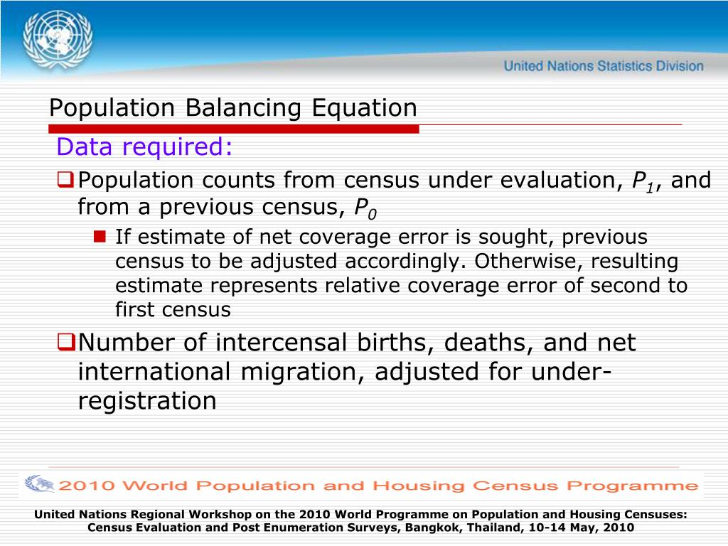 Population Balancing Equation