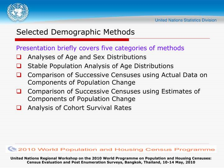 Selected demographic methods l.jpg