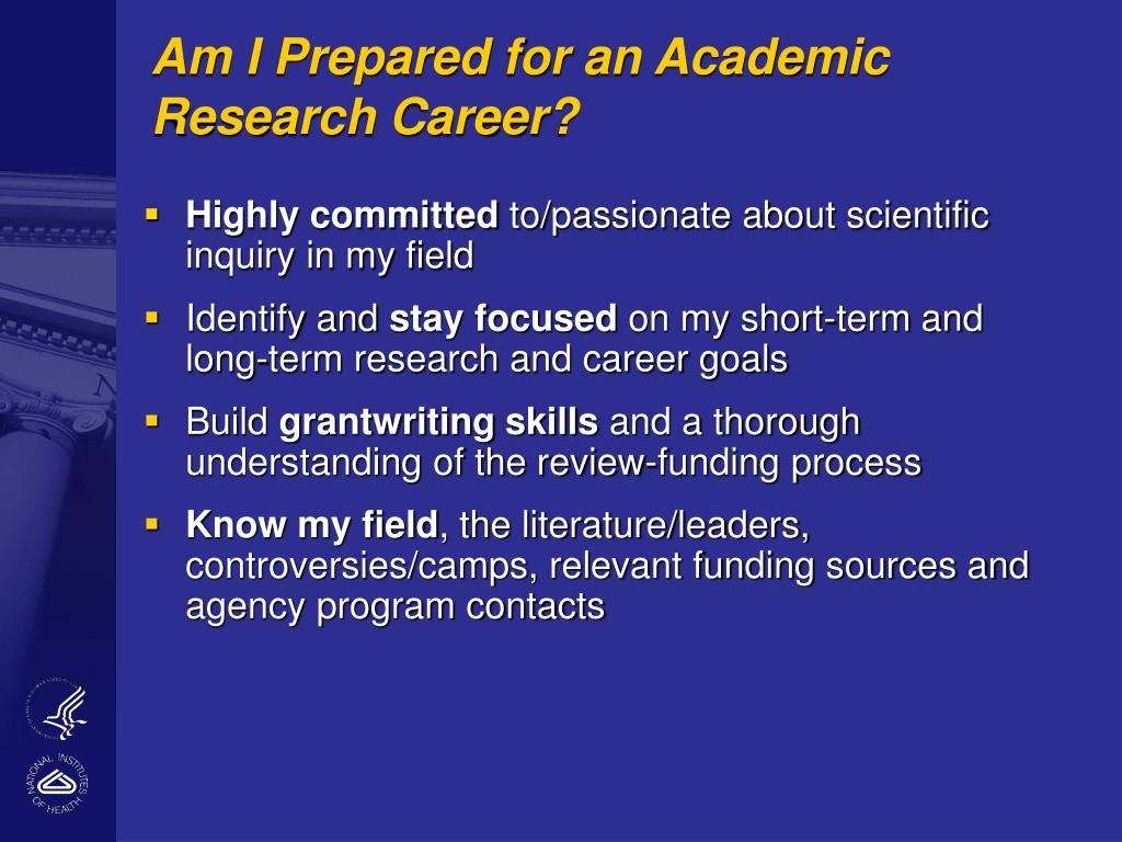 Am I Prepared for an Academic Research Career?