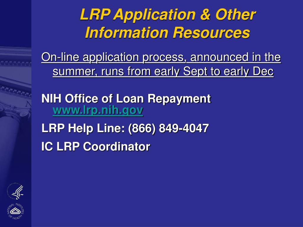 LRP Application & Other Information Resources