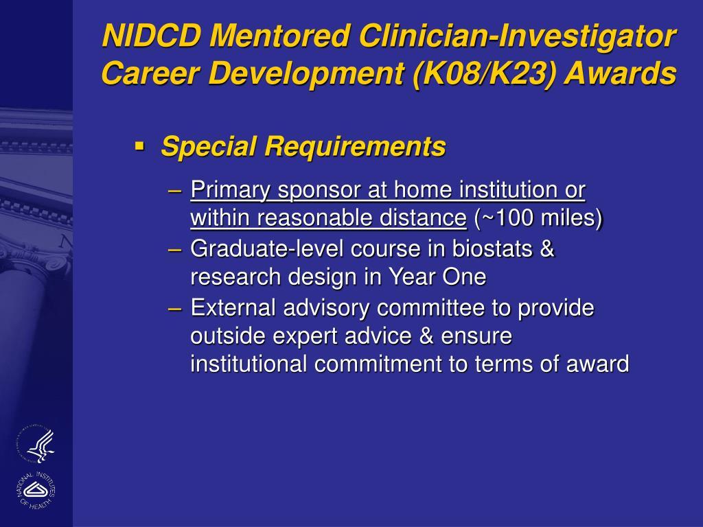 NIDCD Mentored Clinician-Investigator Career Development (K08/K23) Awards