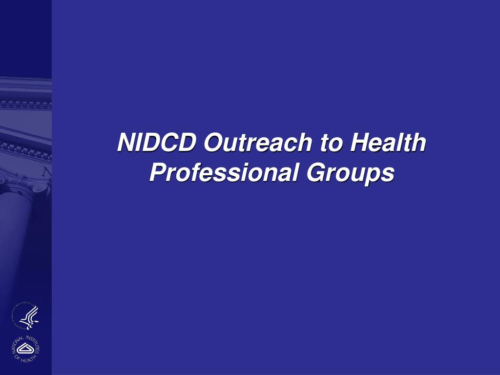 NIDCD Outreach to Health Professional Groups