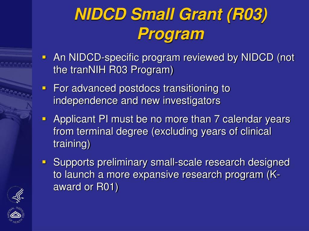 NIDCD Small Grant (R03) Program