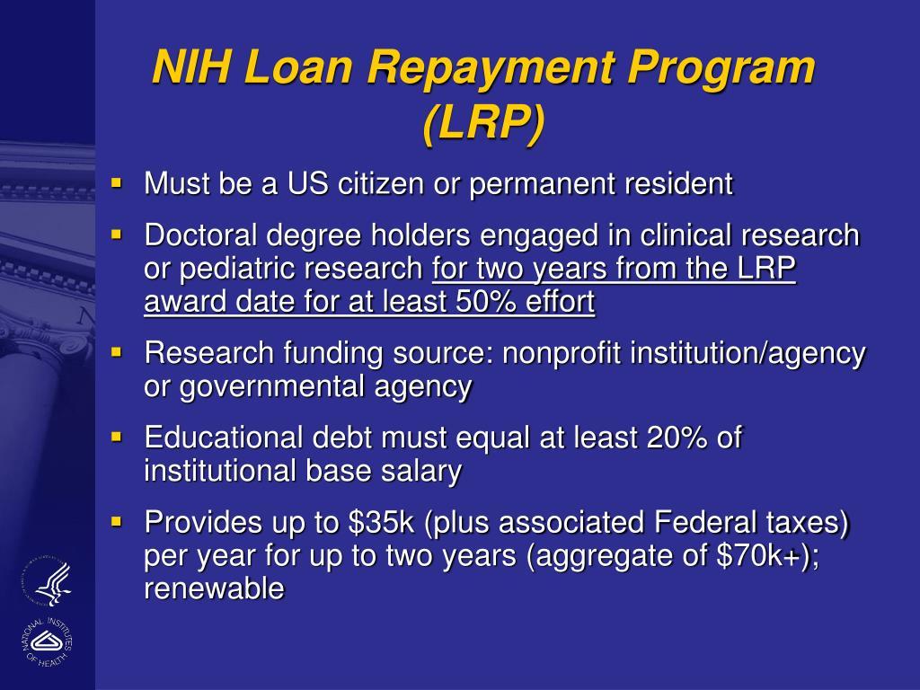 NIH Loan Repayment Program (LRP)