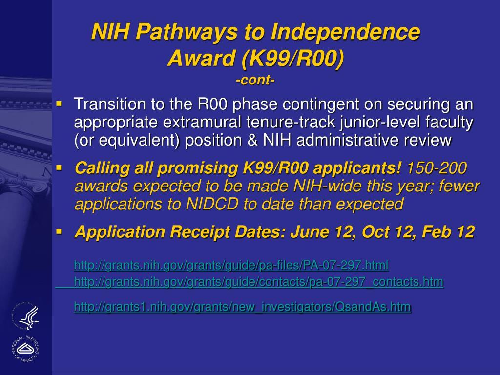 NIH Pathways to Independence Award (K99/R00)