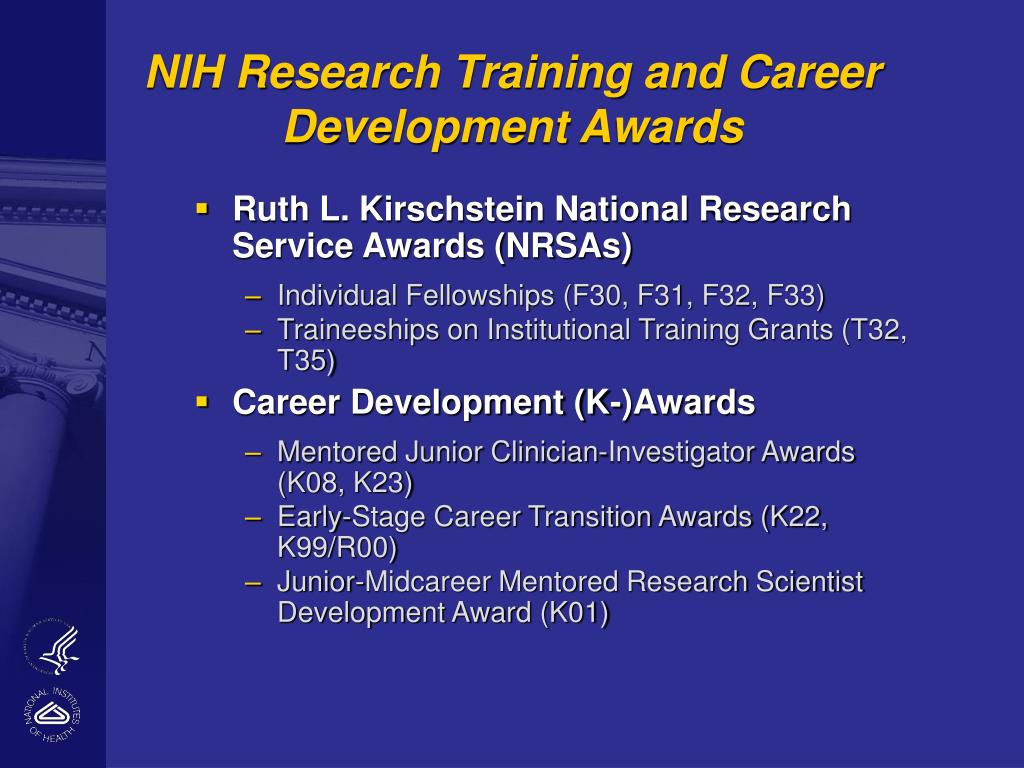 NIH Research Training and Career Development Awards