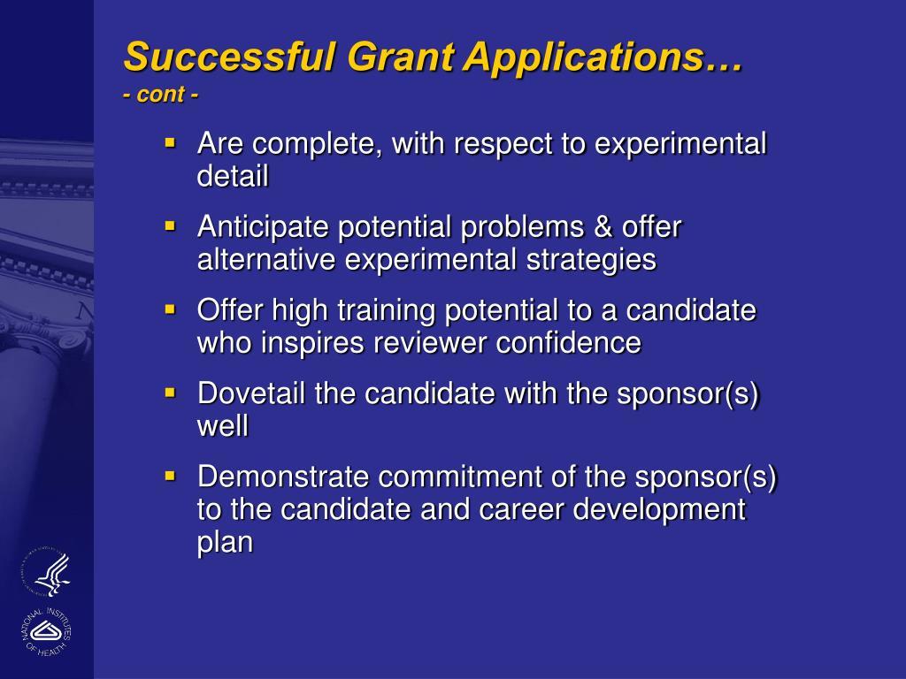 Successful Grant Applications…