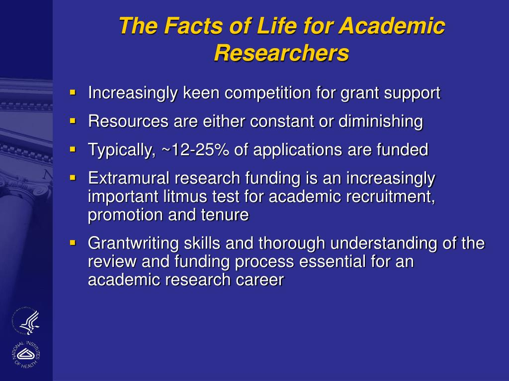 The Facts of Life for Academic Researchers