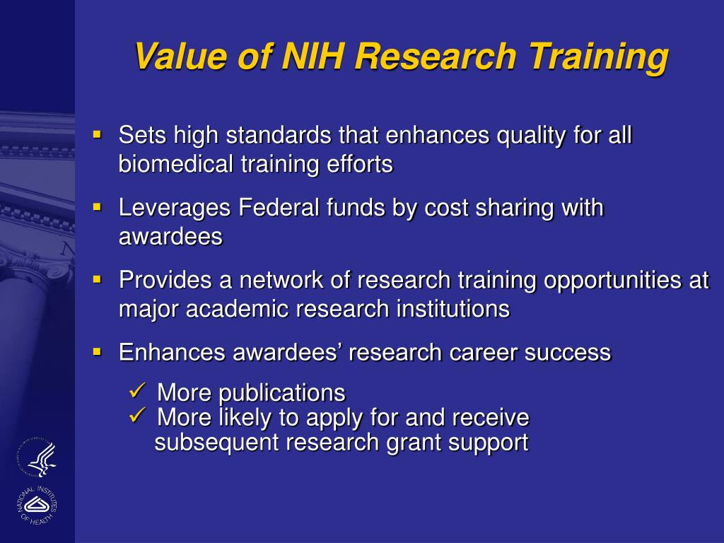 Value of NIH Research Training