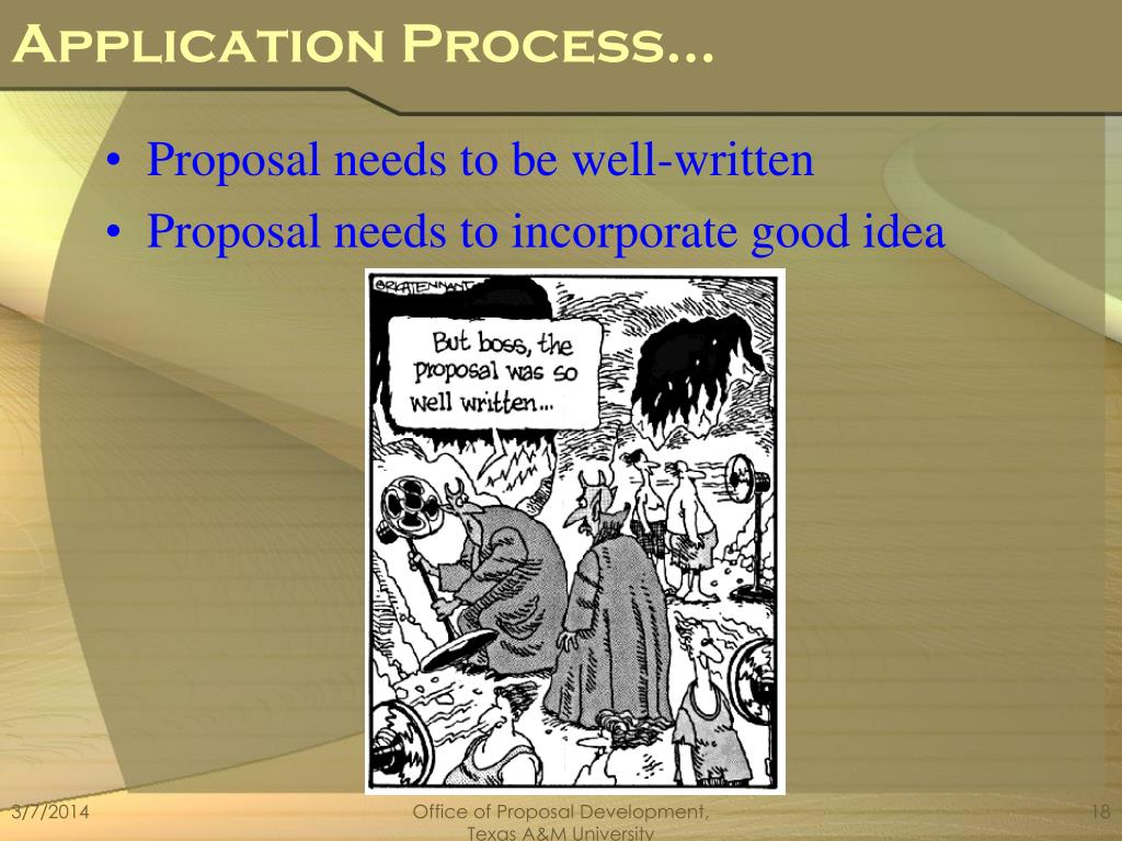 Application Process…