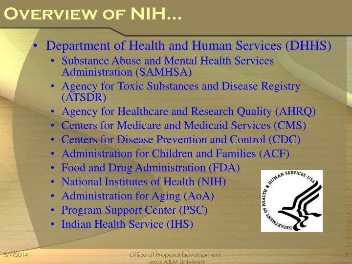 Overview of nih