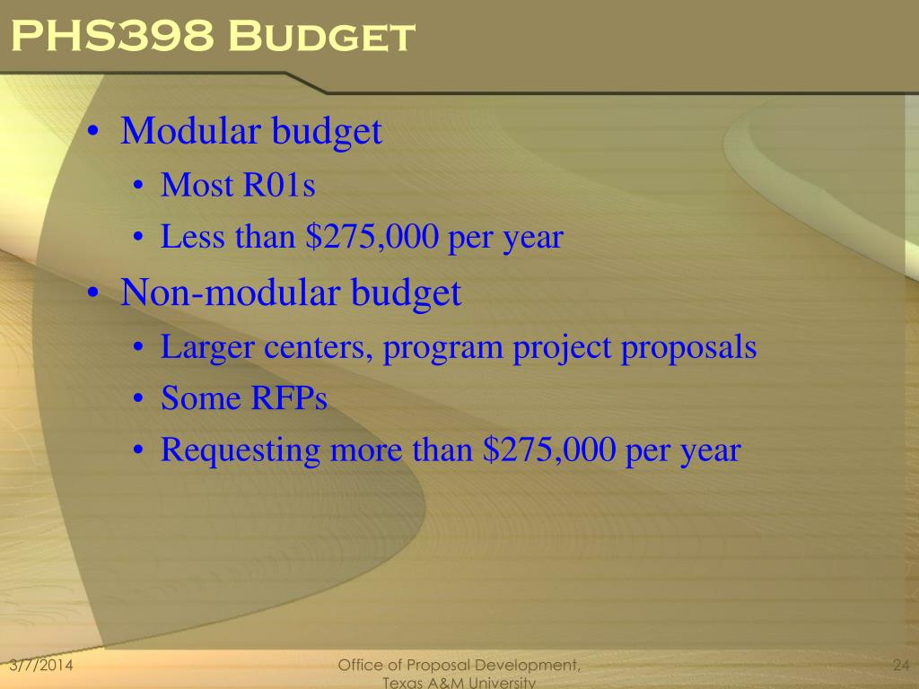 PHS398 Budget