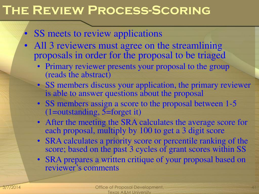 The Review Process-Scoring