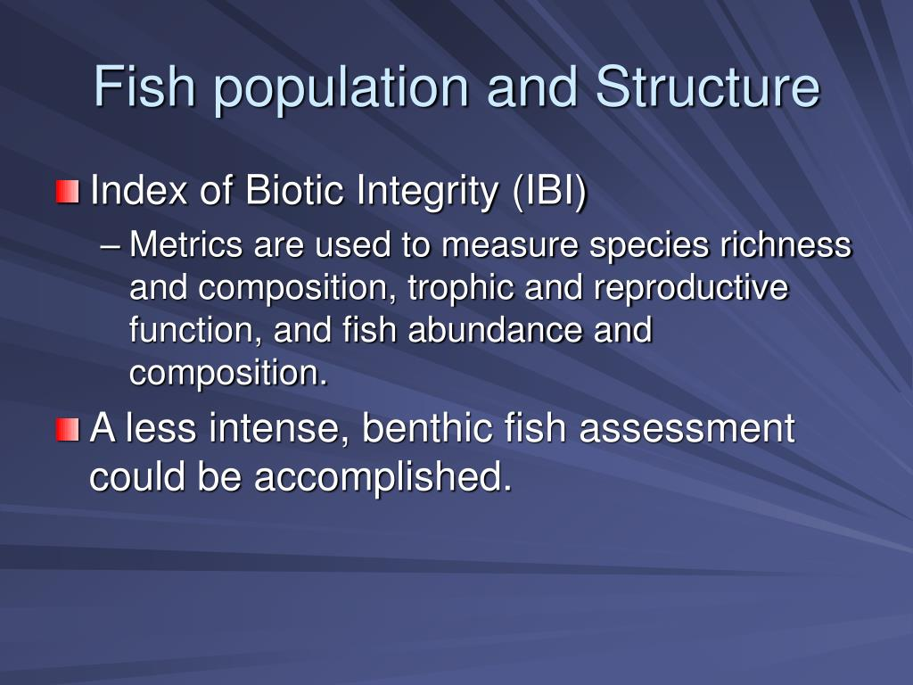 Fish population and Structure