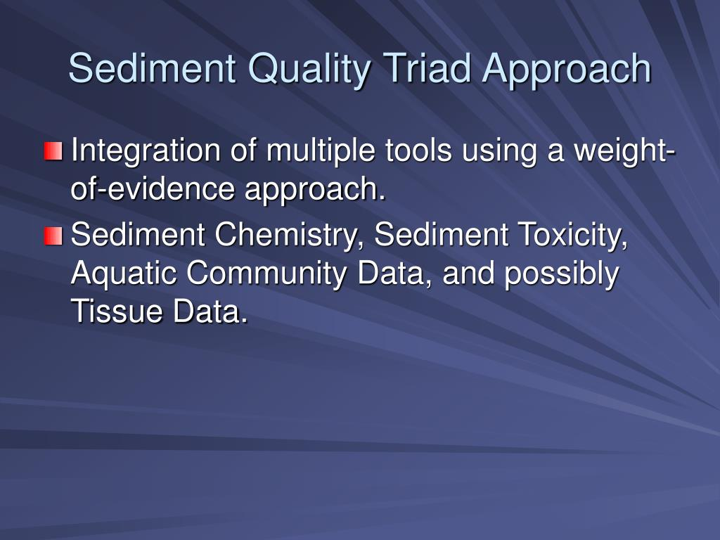 Sediment Quality Triad Approach